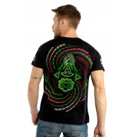 HARE KRISHNA Mantra UV Glow Psy Men's Cotton T-Shirt