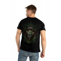 GANESHA Mantra UV Glow Psy Men's Cotton T-Shirt