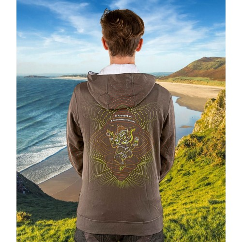 GANESHA Mantra UV Glow Psy Unisex Cotton Windproof Hoodie