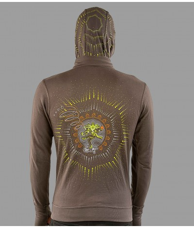 NATARAJA Unisex UV Glow Windproof Cotton Hoodie