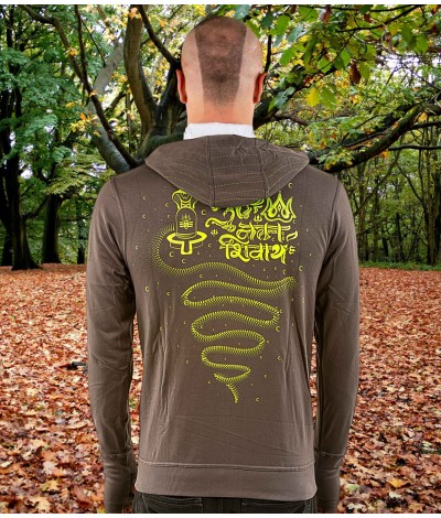 AUM NAMAH SHIVAYA Mantra UV Glow Unisex Windproof Cotton Hoodie