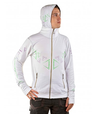 HARE KRISHNA Mantra UV Glow Psy Unisex Cotton Windproof Hoodie