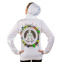 MEDITATE LEVITATE UV Glow Psy Unisex Cotton Windproof Hoodie