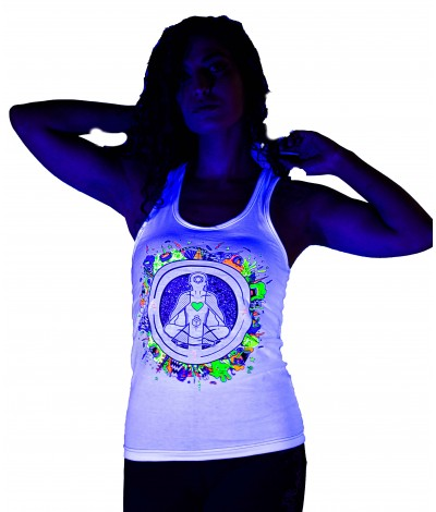 MEDITATE LEVITATE UV Glow Psy Women's Cotton Tank Top