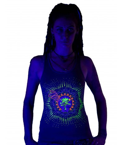 NATARAJA UV Glow Psy Women's Cotton Tank Top