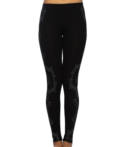 VASUKI Women's Psy Cotton Leggings/Yoga Pants