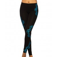 DNA UV Glow Psy Cotton Leggings/Yoga Pants
