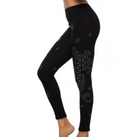 FLOWER OF LIFE Sacred Geometry Psy Printed Cotton Leggings/Yoga Pants