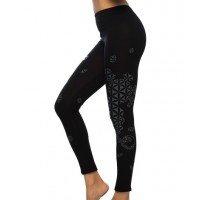 FLOWER OF LIFE Sacred Geometry Psy Printed Cotton Leggings/Yoga Pants