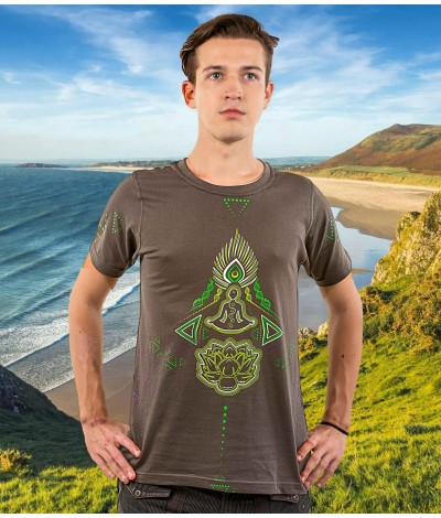 Hare,Krishna,ram,rama,mantra,mantras,shiva,trippy,psy,wear,gear,psychedelic,uv,active,glow,yoga,blacklight,black,light,reactive,goa,festival,mens,men,psywear,psygear,alternative,fashion,clothing,psytrance,trance,hippie,tshirt,tshirts