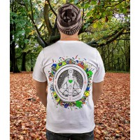 MEDITATE LEVITATE UV Glow Psy Men's Cotton T-shirt