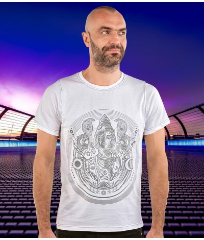 Ardhanarishwara,Ardhanareshwar,AUM,OM,mens,Tshirt,100%,Cotton,Organic,Cotton,Yarn,Trippy,Comfortable,Durable,Mens,shirts,Psy,wear,Psychedelic,clothing,Goa,Psy,gear,Festival,clothing,clothes,Fashion,tshirt,tsirt,Yoga,active,wear