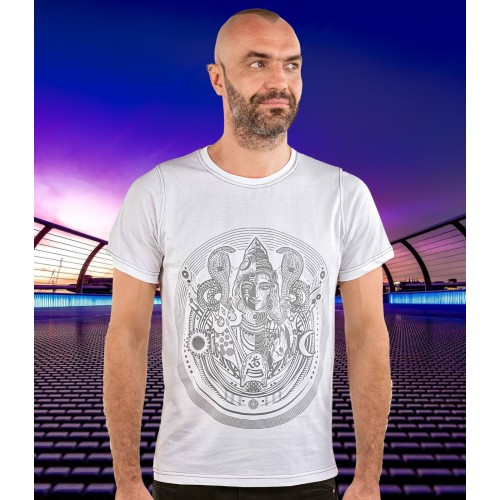 ARDHANARISHVARA Shiva Shakti Men's Cotton T-shirt.