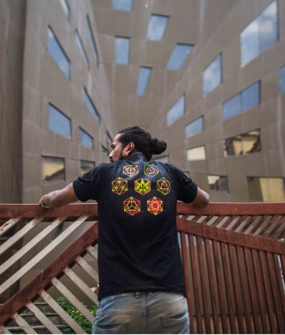 COSMIC BUILDING BLOCKS Mens T-Shirt.