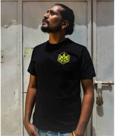 trishul,trishula,trippy,psy,wear,gear,psychedelic,uv,active,glow,tshirt,tshirts,tribal,sacred,geometry,geometric,FlowerofLife,blacklight,reactive,goa,festival,fashion,clothes,clothing,men,mens,psywear,psygear,alternative,psytrance,t-shirt,t-shirts