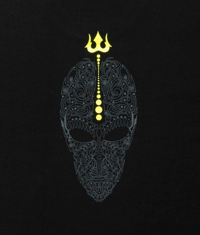 ENLIGHTENED SKULL Mens T-Shirt.